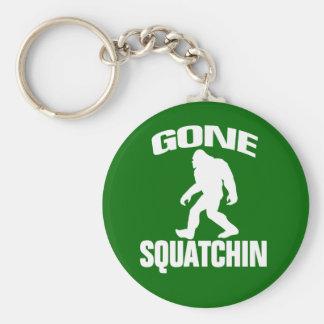 Squatchin ido - blanco y verde llavero redondo tipo pin