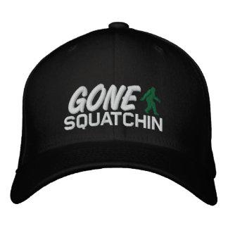 Squatchin ido - blanco y verde negros gorras bordadas