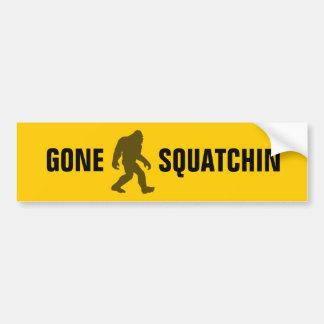 Squatchin ido pegatina de parachoque