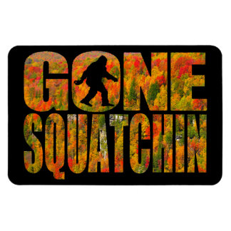 Squatchin ido ** edición del follaje de otoño ** iman flexible