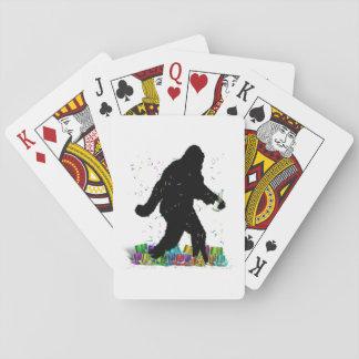 Squatchin ido en el Año Nuevo Cartas De Póquer