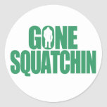 Squatchin ido etiquetas redondas