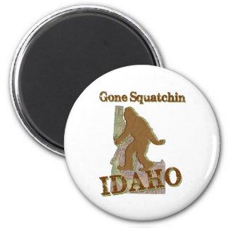 Squatchin ido - Idaho Imán Redondo 5 Cm