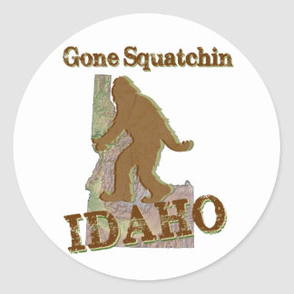 Squatchin ido - Idaho Pegatina Redonda