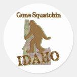 Squatchin ido - Idaho Pegatinas Redondas