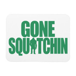 Squatchin ido imán foto rectangular