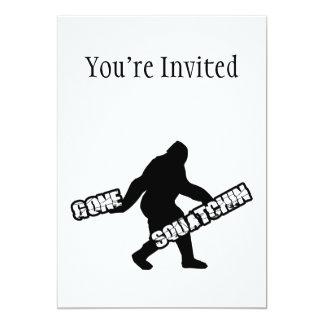 Squatchin ido invitación 12,7 x 17,8 cm