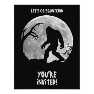 Squatchin ido invitación 10,8 x 13,9 cm