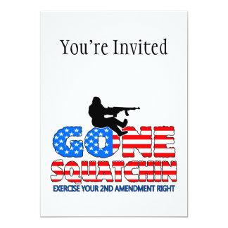 Squatchin ido los E.E.U.U. Invitación 12,7 X 17,8 Cm