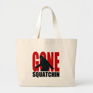 Squatchin ido - negro y rojo bolsas