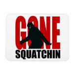 Squatchin ido - negro y rojo imanes rectangulares