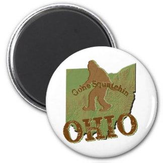 Squatchin ido Ohio Imán Redondo 5 Cm