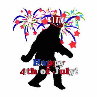 Squatchin ido para el 4 de julio (texto y fuegos fotoescultura vertical