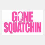 Squatchin ido pegatina rectangular