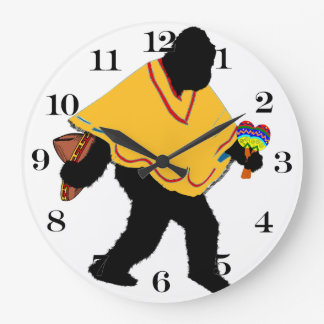Squatchin ido - poncho Squatchin Reloj Redondo Grande