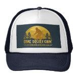 Squatchin ido (puesta del sol del vintage) gorras de camionero