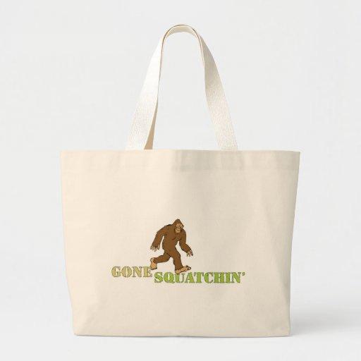 Squatchin ido que busca al cazador de Bobo Sasquat Bolsa Tela Grande
