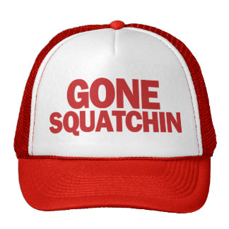 Squatchin ido Red Hat Gorras De Camionero