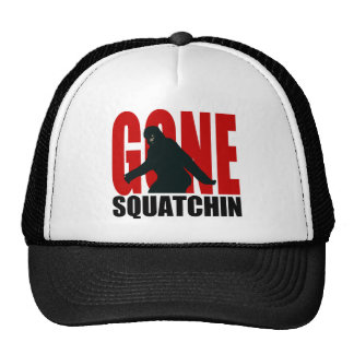 Squatchin ido (rojo y negro) gorros bordados
