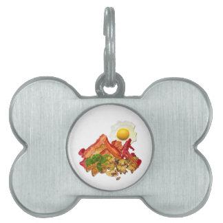 Squatchin ido salsa de tomate chistosa para el placa de nombre de mascota