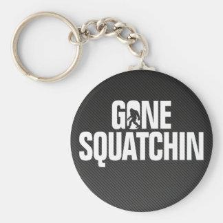 Squatchin ido - silueta del negro/blanca llavero redondo tipo pin