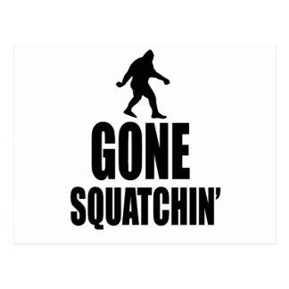 Squatchin ido tarjetas postales