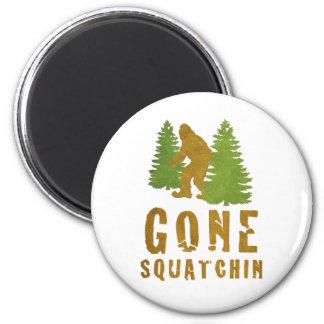 Squatchin ido (vintage) imán redondo 5 cm