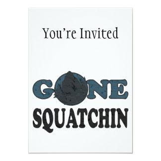 Squatchin ido Yeti en maderas Invitación 12,7 X 17,8 Cm