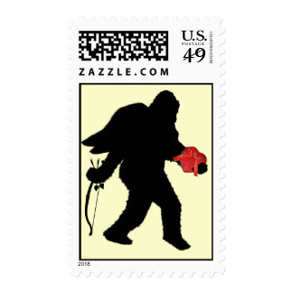 Squatchin Into Your Heart Postage Stamps