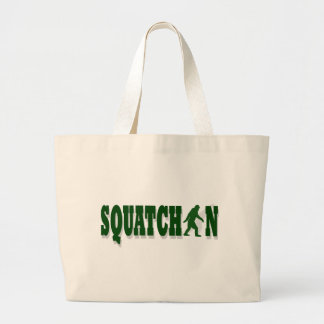 Squatchin Large Tote Bag