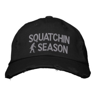 Squatchin season embroidered baseball cap