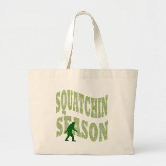 Squatchin Season Large Tote Bag