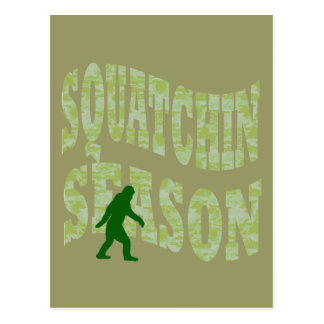 Squatchin Season Postcard