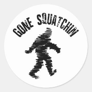 Squatchin' Round Stickers