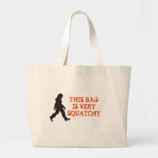 Squatchin' Watching Two Large Tote Bag