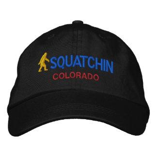 Squatchin y su estado personalizados gorro bordado