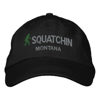 Squatchin & your state personalized embroidered baseball cap