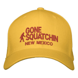 Squatchin & your state personalized embroidered baseball hat