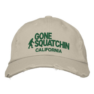 Squatchin & your state personalized embroidered baseball caps