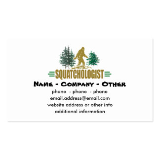 Squatching Double-Sided Standard Business Cards (Pack Of 100)
