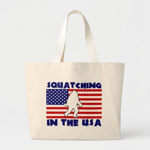 Squatching en los E.E.U.U. Bolsa Lienzo