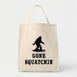 Squatching ido, encontrando Bigfoot, Squatch Bolsa Tela Para La Compra