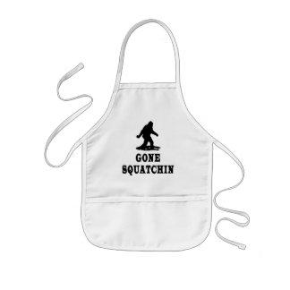 Squatching ido, encontrando Bigfoot, Squatch Delantal Infantil