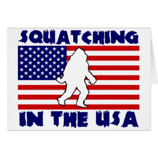 Squatching in the USA Card
