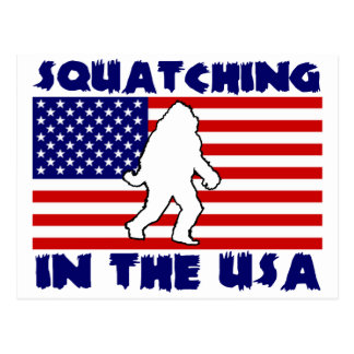 Squatching in the USA Postcard