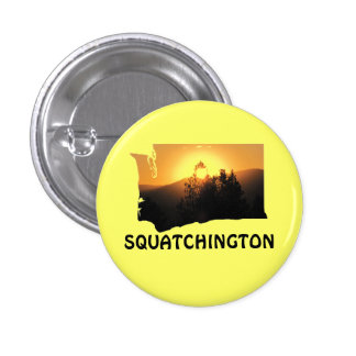 Squatchington Sunset 1 Inch Round Button