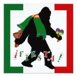 """Squatcho De Mayo Fiesta 5.25"""" Square Invitation Card"""