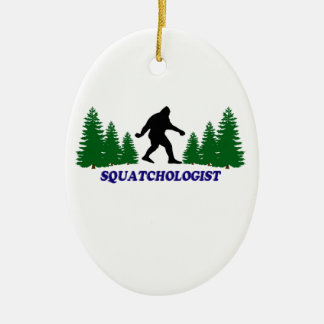 Squatchologist Ceramic Ornament