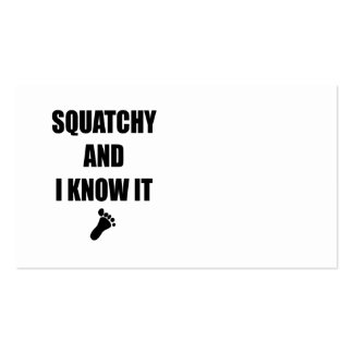 Squatchy and I Know It Business Card Templates