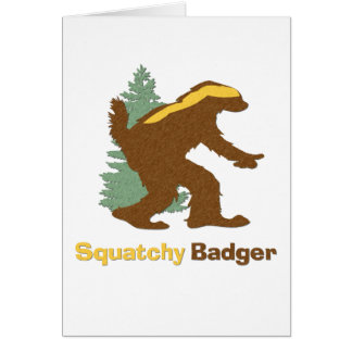 Squatchy Badger Card